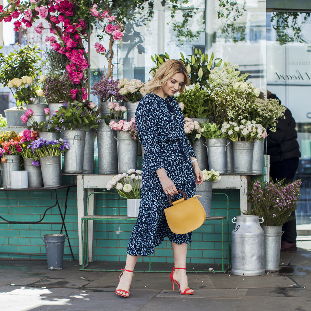 spring wardrobe update midi dress